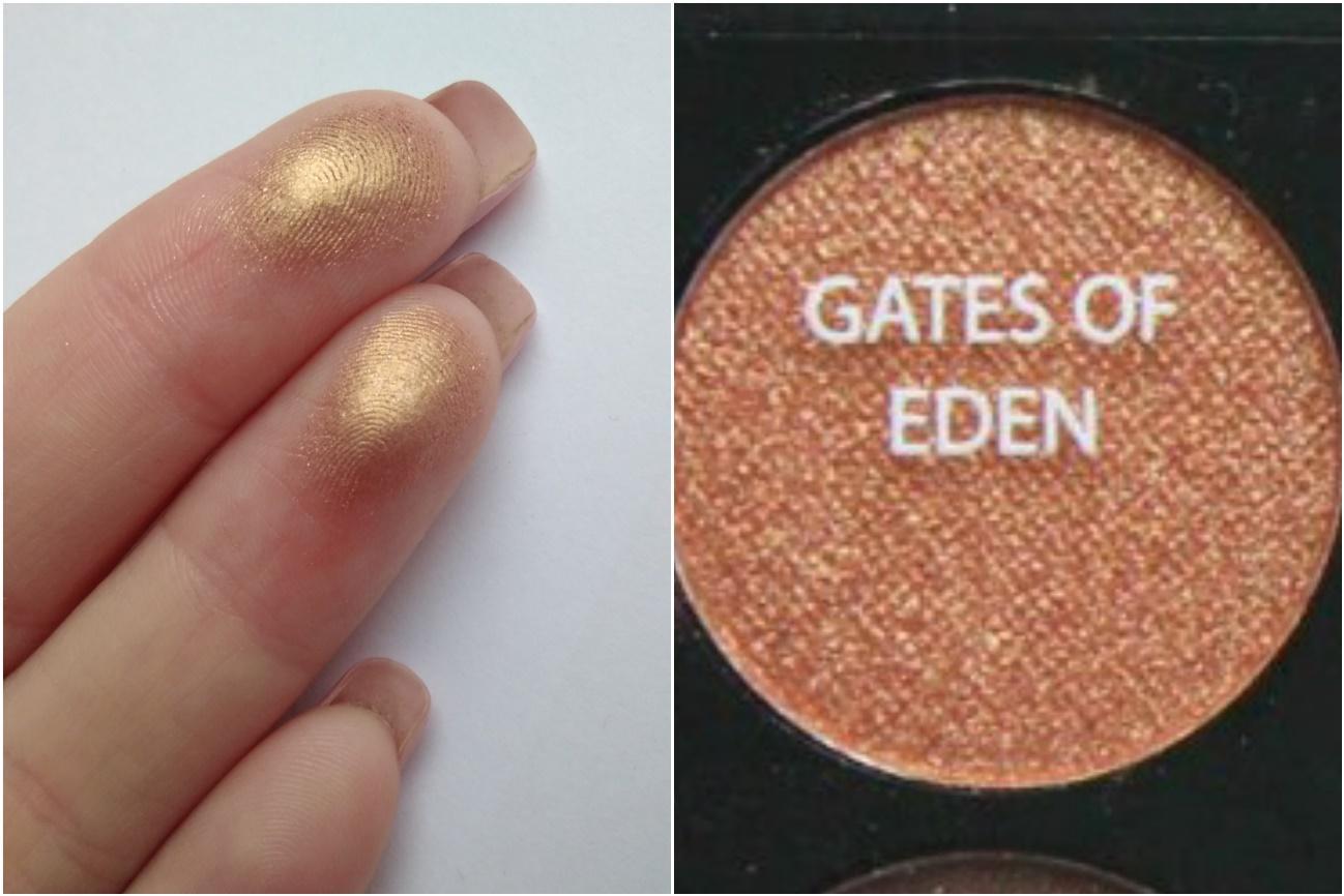 Палетка Sleek Garden of Eden - свотч Gates of Eden