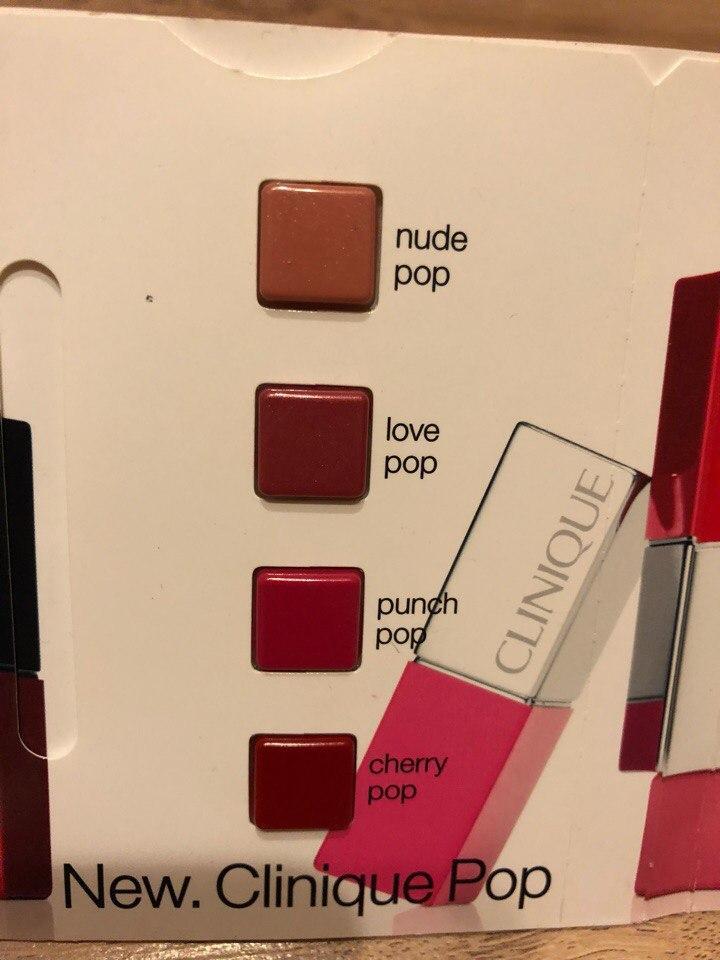 Палетка помад Clinique Pop Lip Colour, оттенки