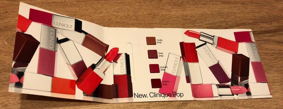 Палетка помад Clinique Pop Lip Colour в открытом виде