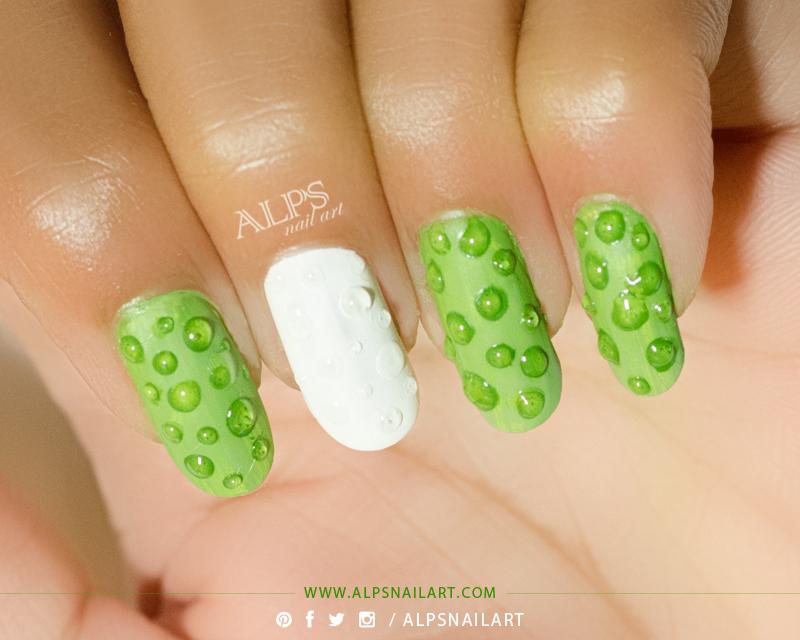 Фото дизайн ногтей капельки гель лаком
