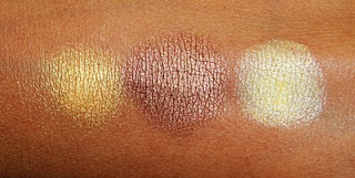Виды теней для век от MAC - перламутровые тени - вид на коже