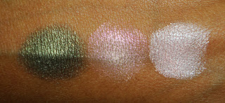 Виды теней для век от MAC - люстровые тени - вид на коже