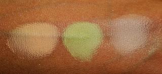 Виды теней для век от MAC - велюксовые тени - вид на коже