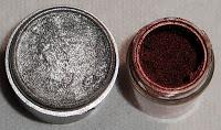 Виды теней для век от MAC - металлические тени MAC Silver Pigment и MAC Copper Pigment