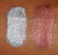 Виды теней для век от MAC - металлические тени - вид на коже