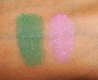 Виды теней для век от MAC - матовые тени с блестками - вид на коже