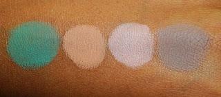 Виды теней для век от MAC - матовые тени - вид на коже