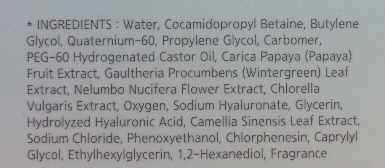 Пузырьковый пилинг-гель  Missha Super Aqua Bubble Peeling Gel - ингредиенты, состав