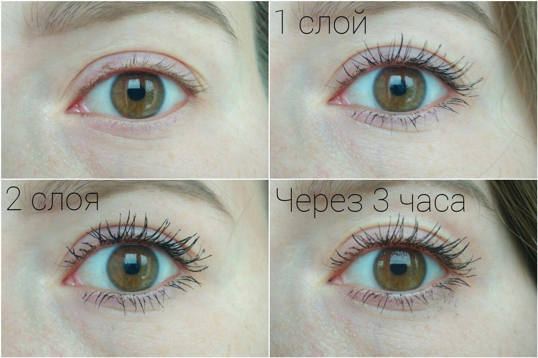 Тушь для ресниц LuxVisage Perfect Color Веер пышных ресниц - эффект на глазах, свотч
