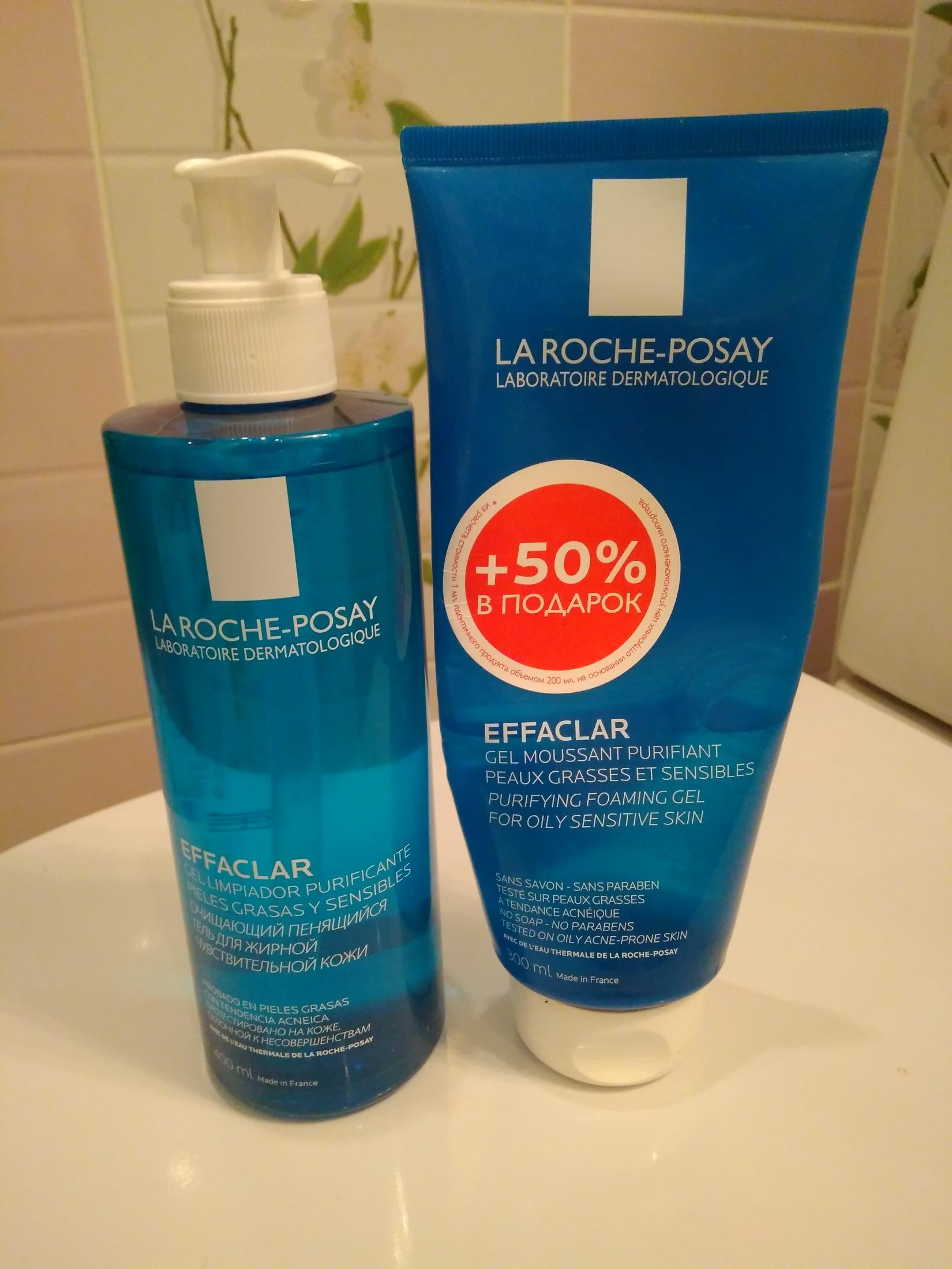 Гель для умывания (Очищающий пенящийся гель) La Roche Posay Effaclar Purifying Foaming Gel для жирной чувствительной кожи. В упаковке