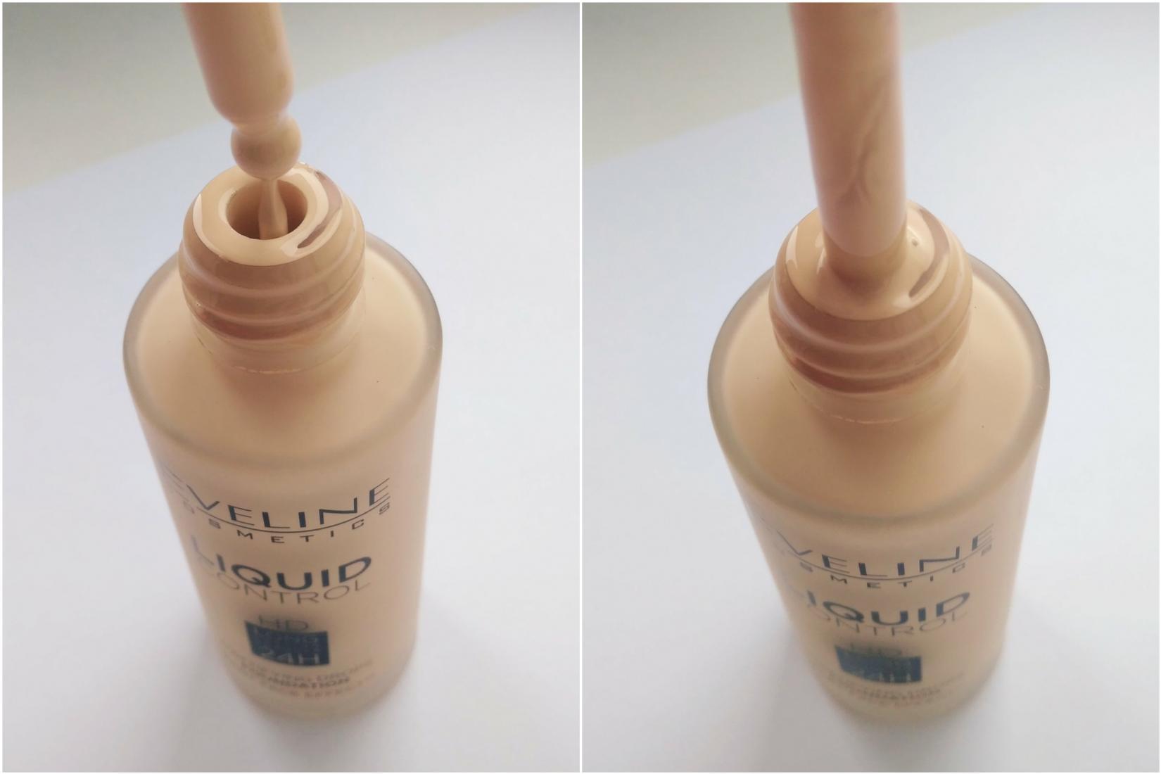 Жидкая тональная основа Eveline Liquid Control HD, 015 Light Vanilla - пипетка