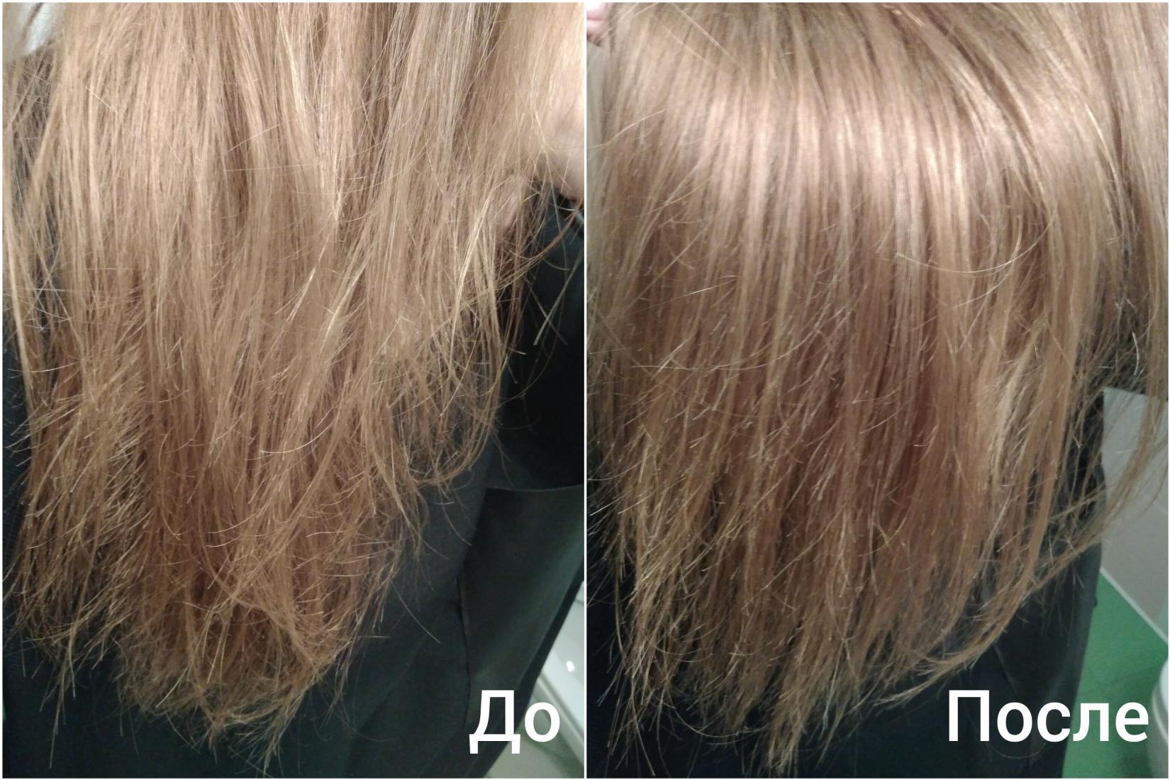 Восстанавливающее масло Londa Velvet Oil - результат, сравнение До и После