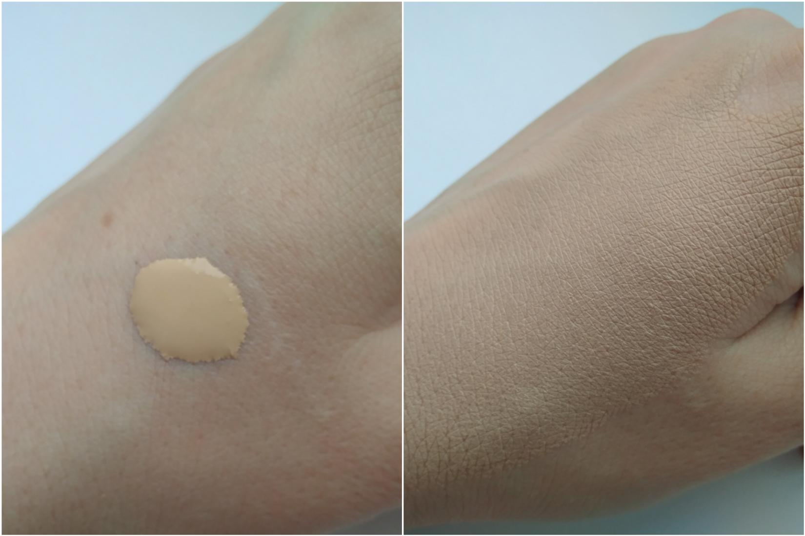 Тональная основа Catrice HD Liquid Coverage Foundation 010 Light Beige - текстура, свотч на руке