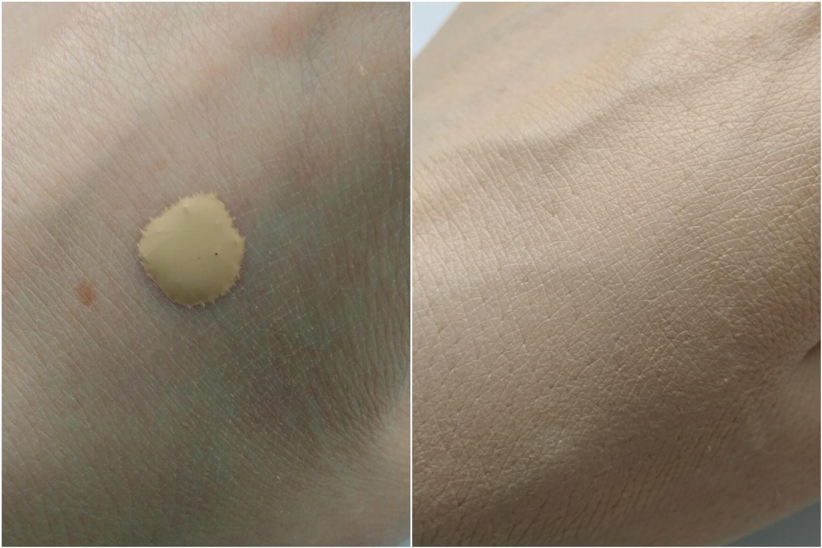 Жидкая тональная основа Eveline Liquid Control HD, 015 Light Vanilla - текстура, свотч
