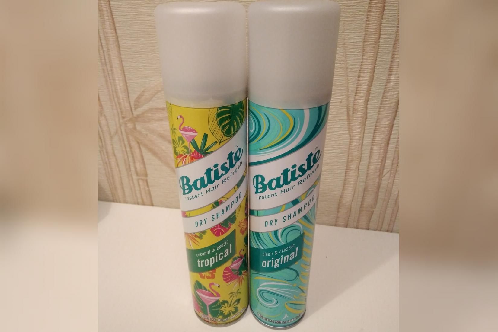 Сухие шампуни Batiste Dry Shampoo, Tropical и Original