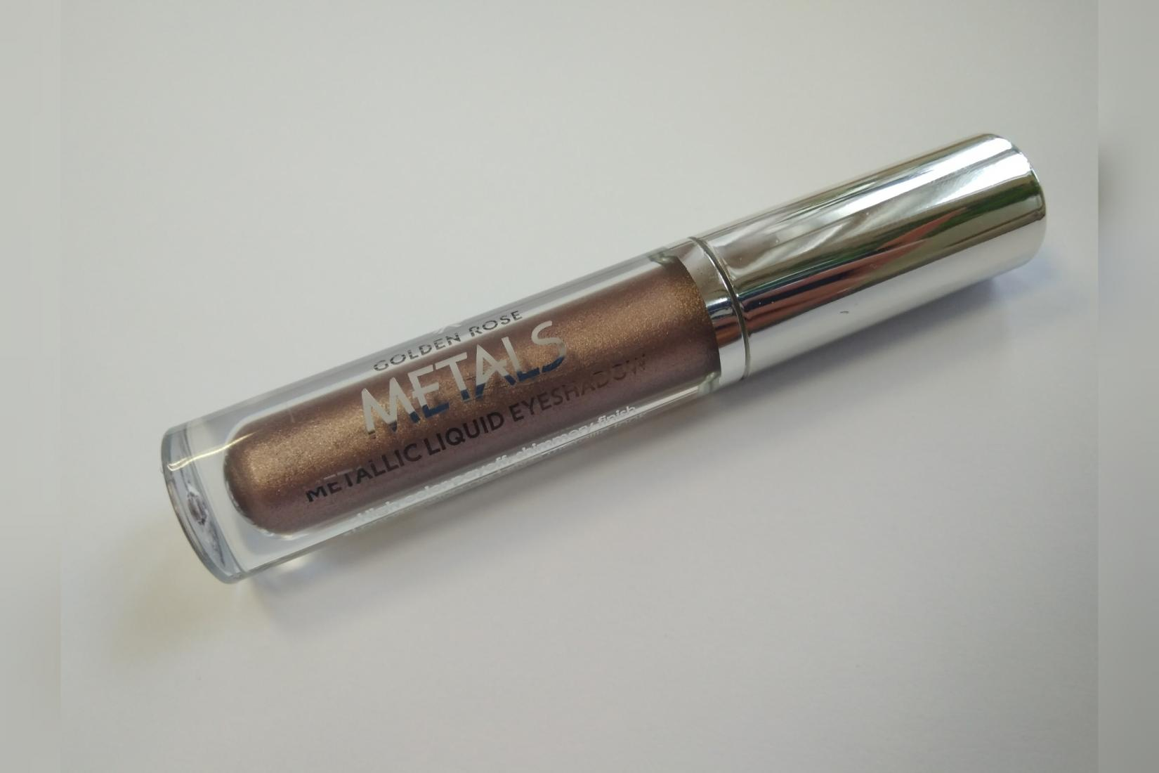 Жидкие тени Golden Rose Metals, оттенок 105 Mink - внешний вид тубы