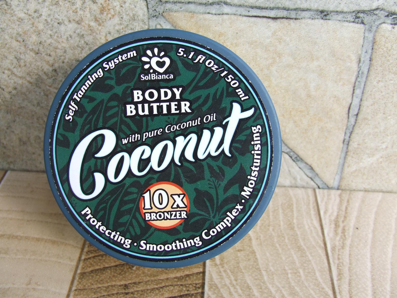 твердое масло-автозагар SolBianca Coconut Body Butter