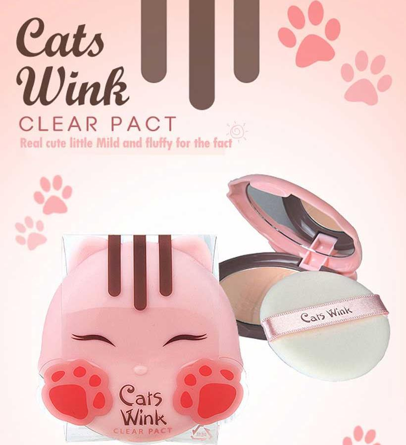 Пудра Tony Moly Cats Wink Clear Pact