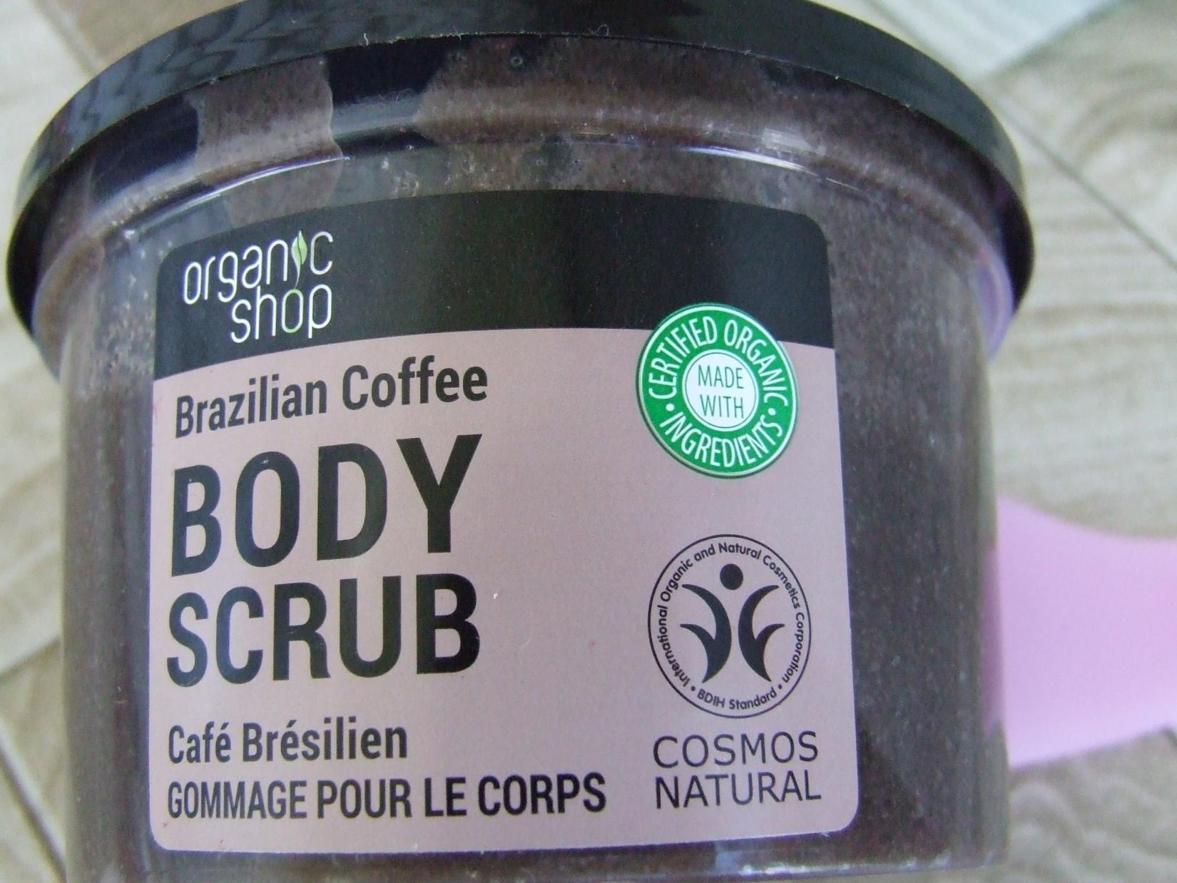 тара кофейного скраба Organic Shop