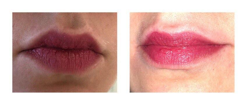 Clinique Pop Lip Colour Love Pop, свотч на губах