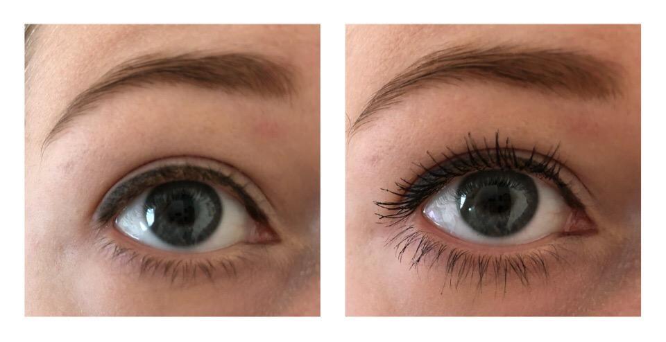 Тушь для ресниц BeYu Unlimited Lashes Mascara фото до и после нанесения