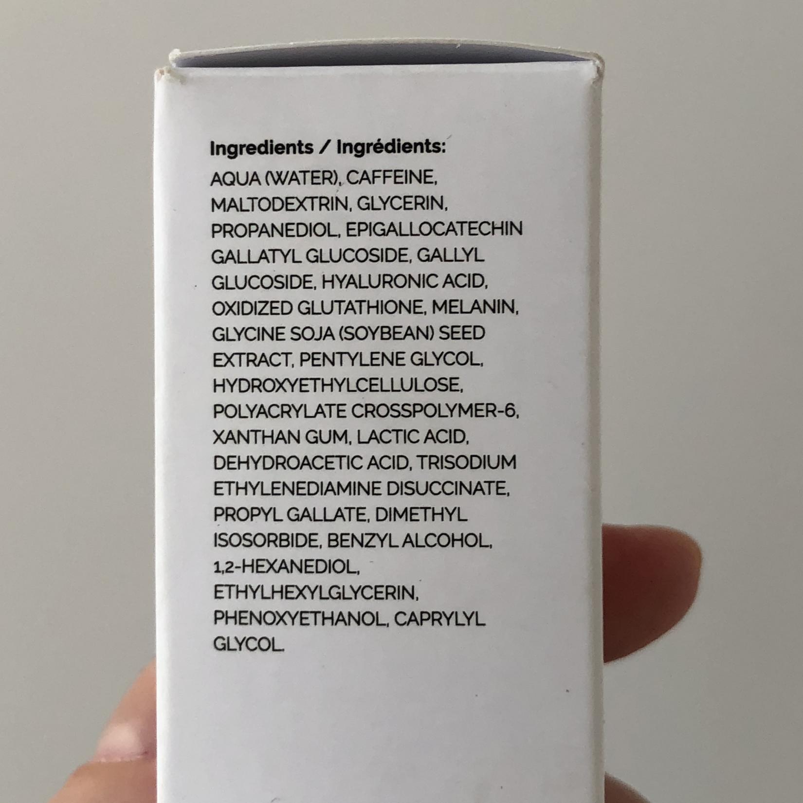 Сыворотка вокруг глаз The Ordinary Caffeine Solution. Состав