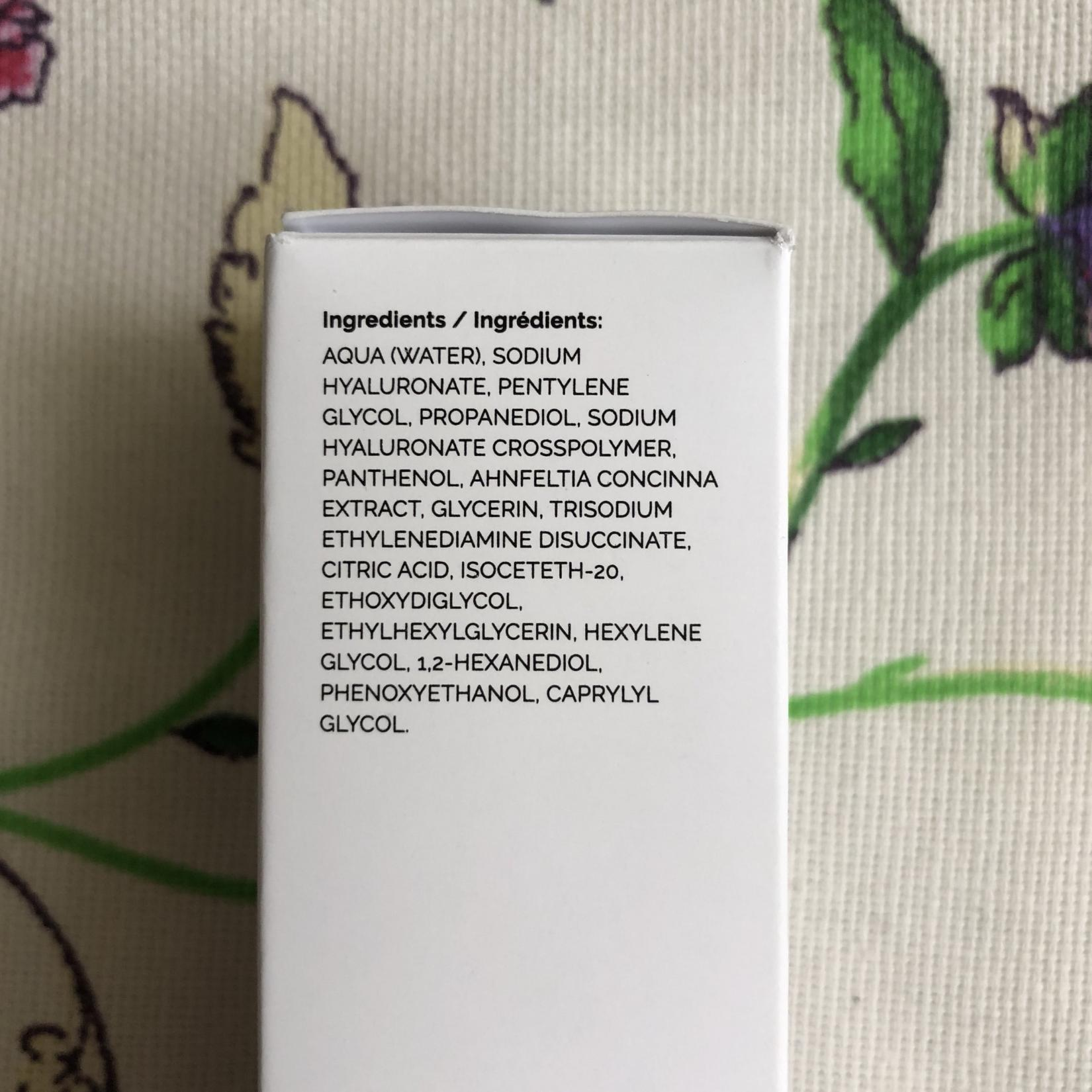 The Ordinary Hyaluronic Acid 2% + B5. Состав