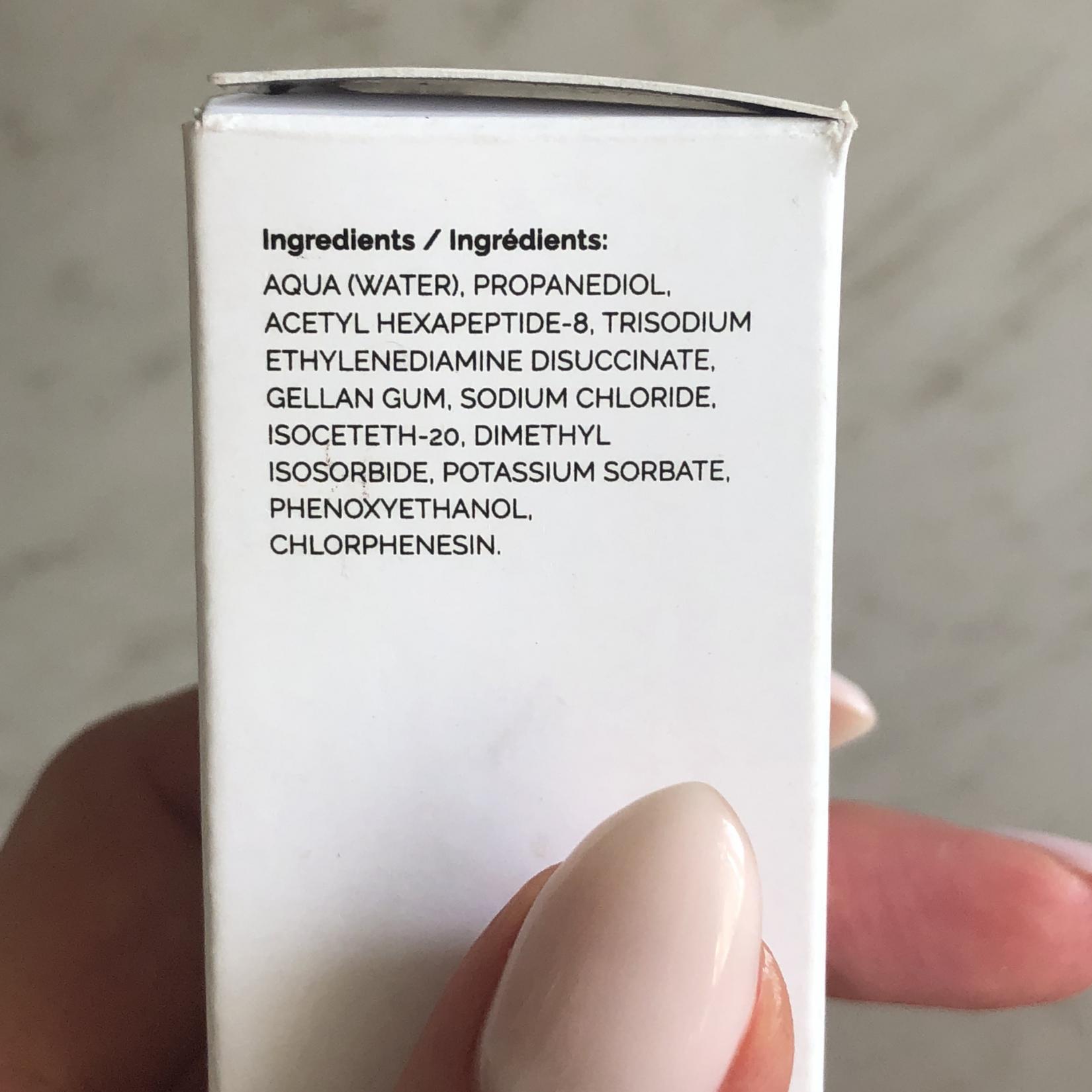 The Ordinary Argireline Solution 10%, сыворотка с аргирелином от мимических морщин - состав
