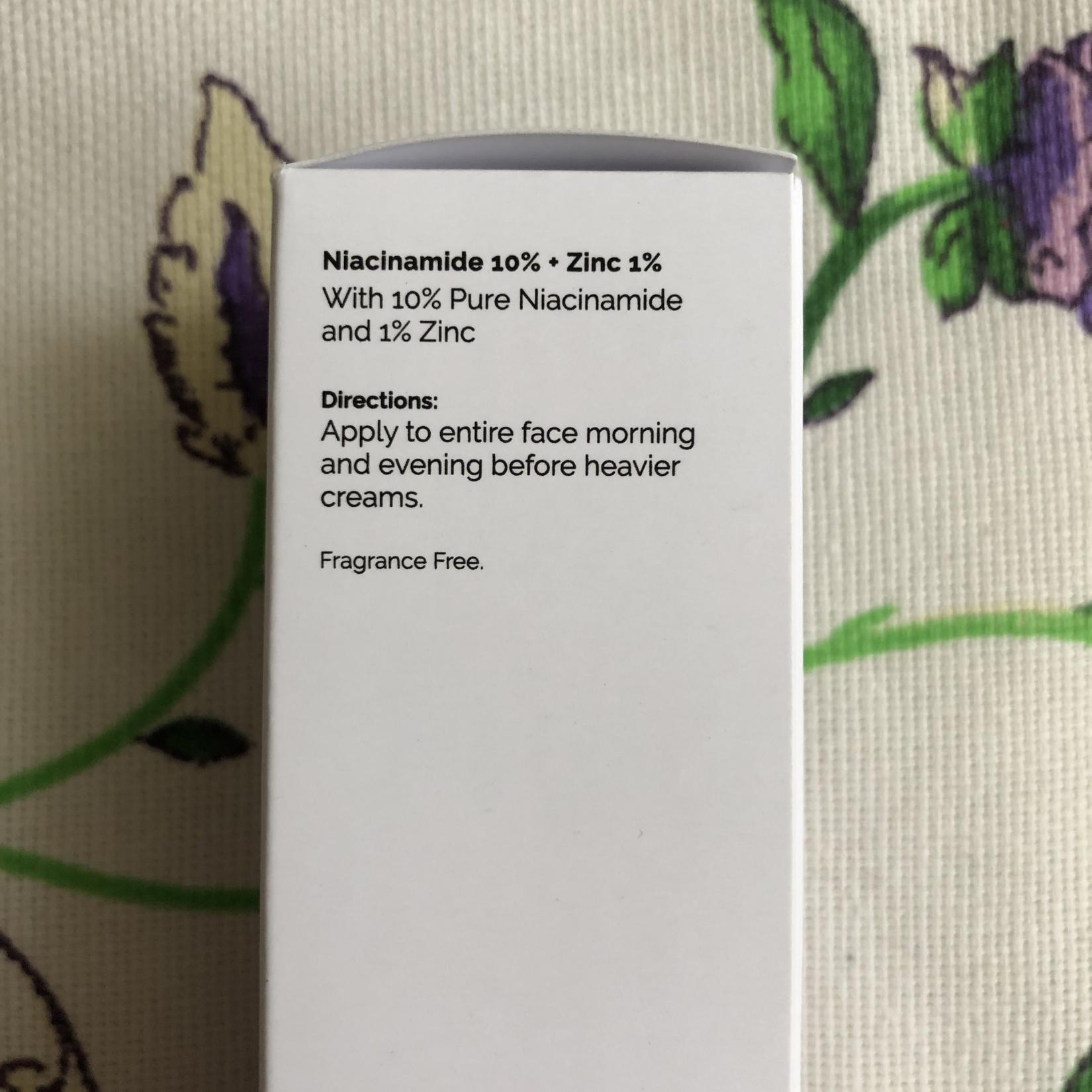 The Ordinary Niacinamide 10 % + Zinc 1% сыворотка с ниацинамидом и цинком - способ применения
