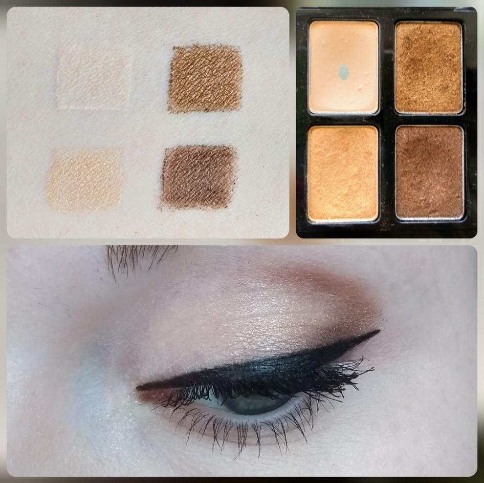 Палетка теней Maybelline The Nudes - свотчи и макияж глаз - оттенки 5, 6, 7, 8