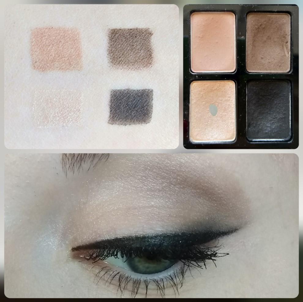 Палетка теней Maybelline The Nudes - свотчи и макияж глаз - оттенки 9, 10, 11, 12