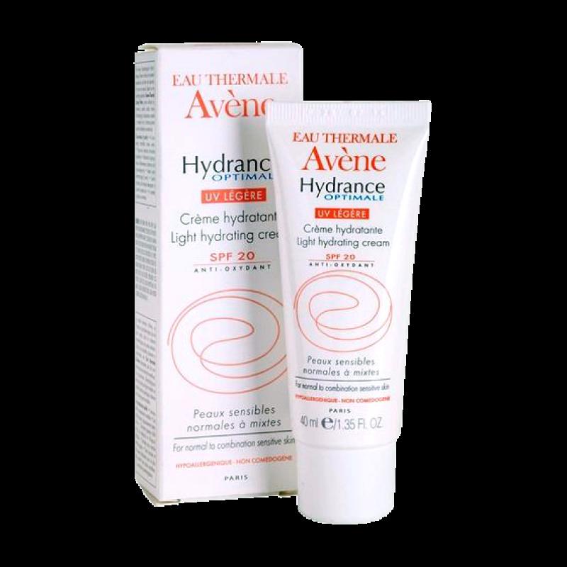 Крем Avene Hydrance Optimale UV legere SPF20 легкий увлажняющий для нормальной и комбинированной чувствительной кожи