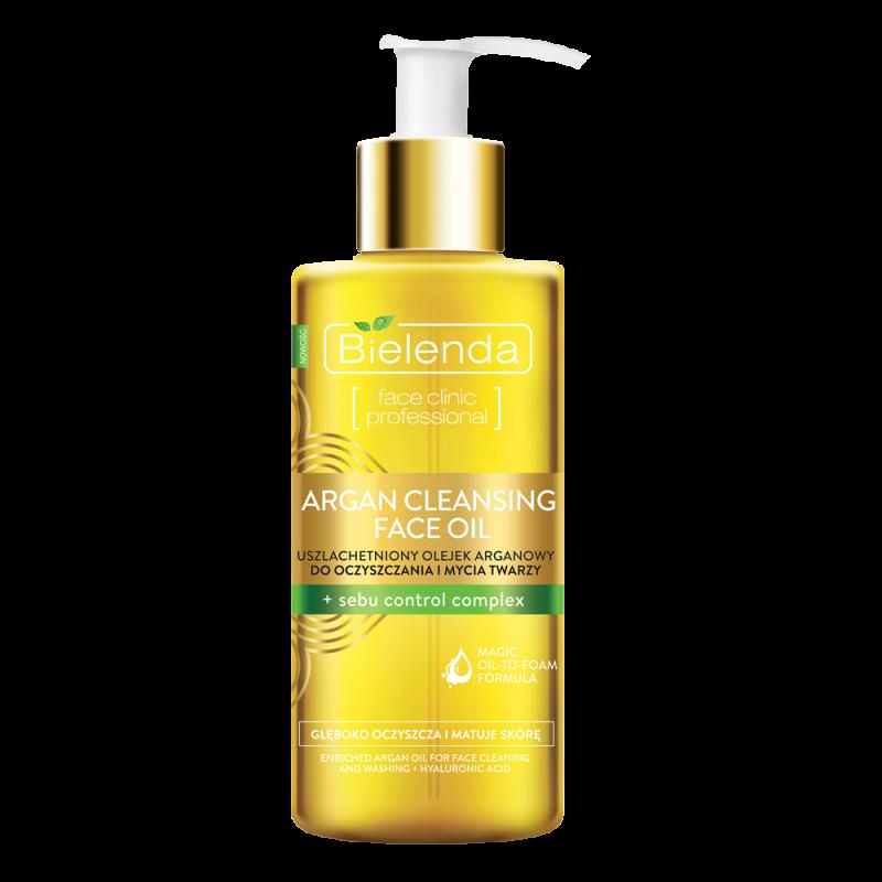 Гидрофильное масло для умывания Bielenda Argan Cleansing Face Oil + Sebu Control Complex с комплексом контроля себовыделений