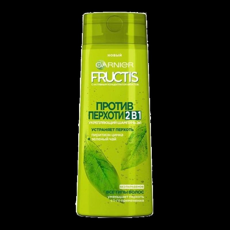 Шампунь Garnier Fructis Против перхоти 2 в 1 укрепляющий для всех типов волос