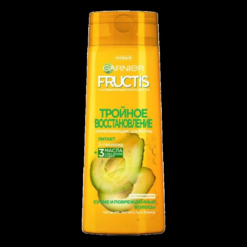 Шампунь Garnier Fructis Тройное восстановление Укрепляющий для сухих и поврежденных волос