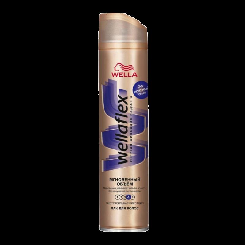 Лак для волос Wella Wellaflex №4 Мгновенный объем (Для заметного объема) Экстрасильной фиксации