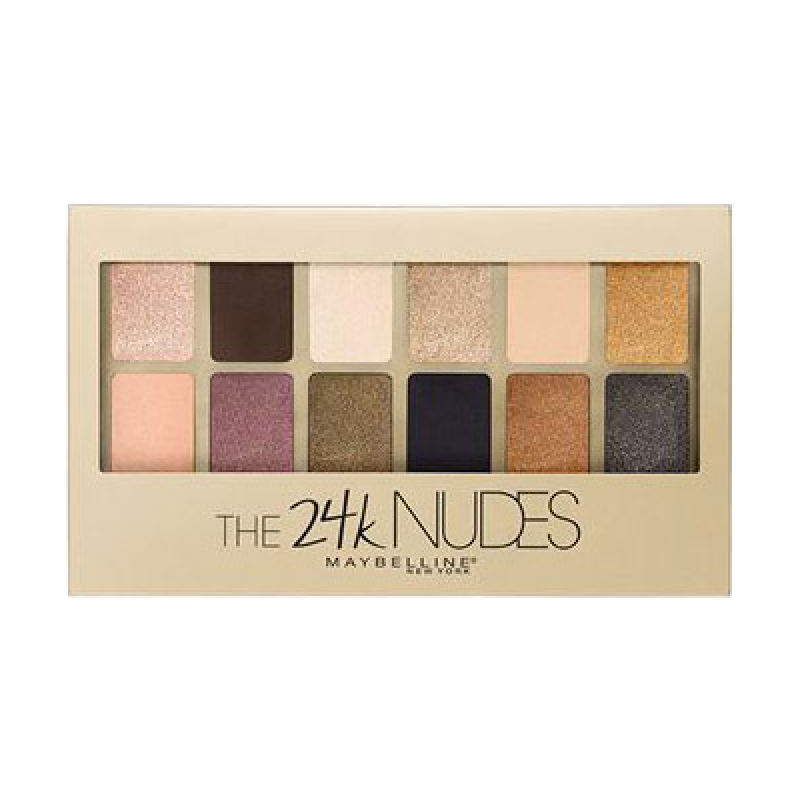 Палетка теней для век Maybelline The 24 karat NUDES Eyeshadow Palette