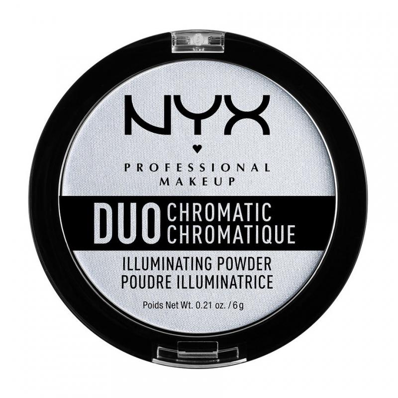 Сухой хайлайтер NYX Duo Chromatic Illuminating Powder