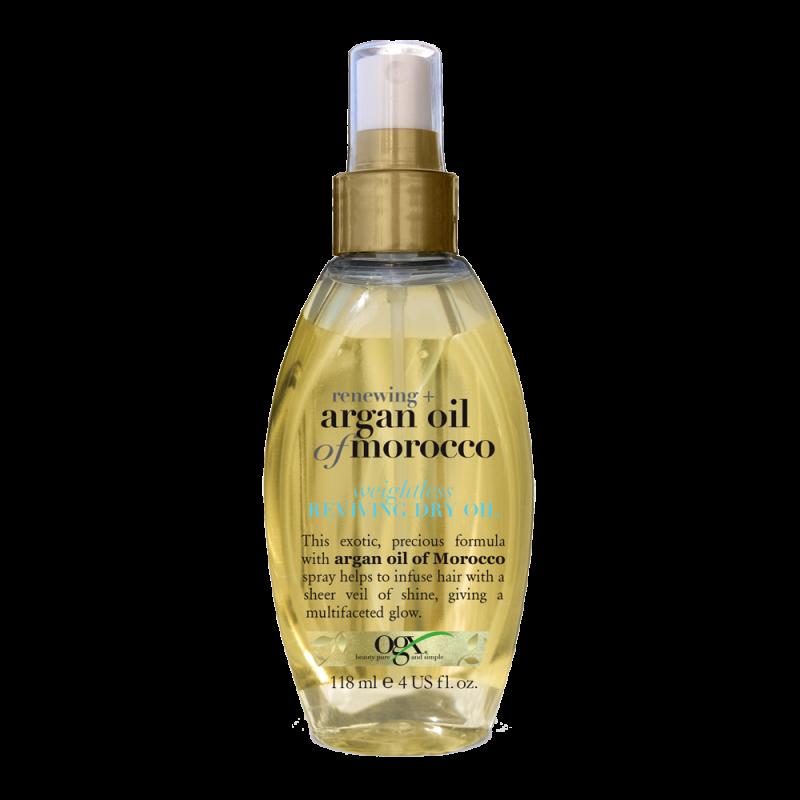 Масло для волос OGX Renewing Argan Oil of Morocco легкое сухое аргановое для восстановления волос Weightless Reviving Dry Oil