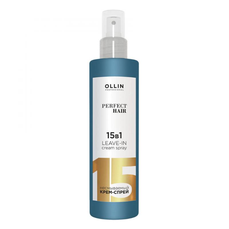 Несмываемый крем-спрей для волос Ollin Professional Perfect Hair 15 в 1 Leave-in Cream Spray
