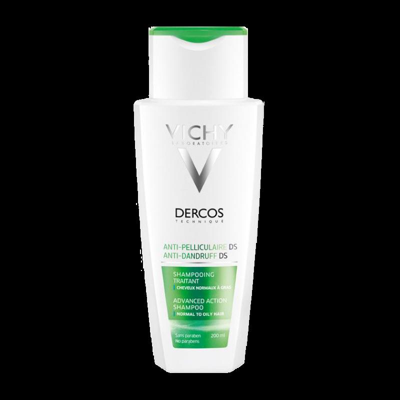 Интенсивный шампунь-уход Vichy Dercos Anti-Dandruff DS (Advanced Action Shampoo) против перхоти для нормальных и жирных волос