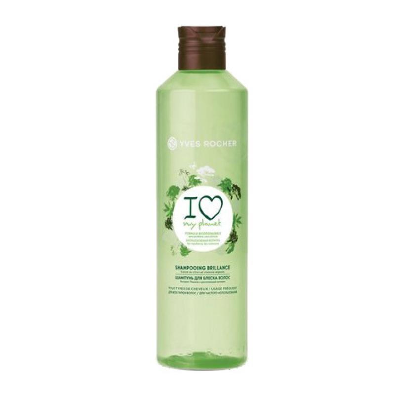 Эко-Шампунь Yves Rocher Ecolabel для блеска волос