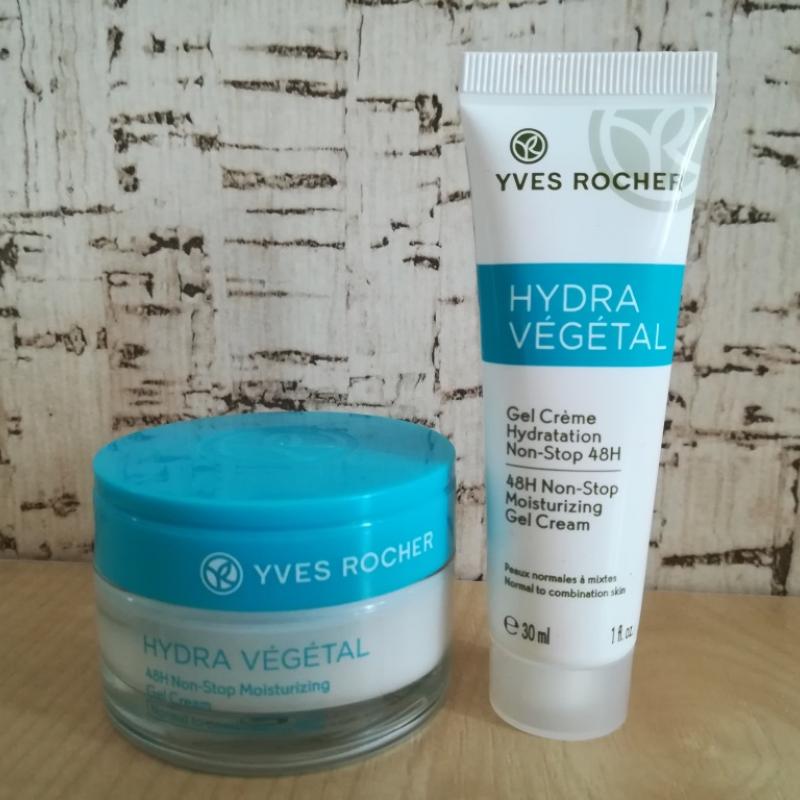 Yves Rocher Hydra Vegetal крем гель для лица - виды упаковки, банка и тюбик