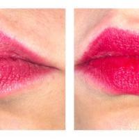 Карандаш для губ Soda Lip Pencil #unicorngossip 004 Red Velvet - свотч на губах (вспышка)