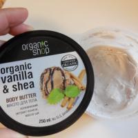 Масло для тела Organic Shop Крем-брюле Ваниль и Ши - внешний вид, продукт внутри
