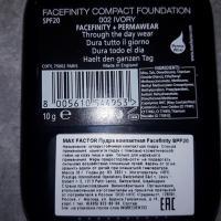 Компактная пудра Max Factor Facefinity Compact Foundation - описание на упаковке, состав