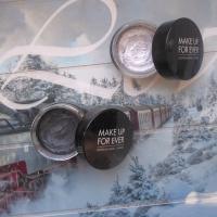 Кремовые тени Make Up For Ever Aqua Cream, #1 - графитовый черный (антрацит) и #3 - серебряный
