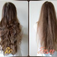 Бальзам Natura Siberica Oblepikha облепиховый Максимальный объем для всех типов волос - эффект До и После