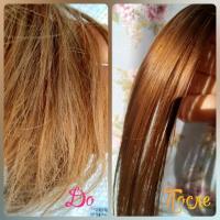 Масло-эликсир для волос Garnier Fructis Преображение - эффект До и После