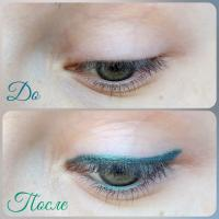 Карандаш для глаз Essence Long Lasting Eye Pencil 12 I have a green - свотч на глазах